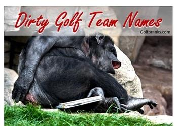 black chimp laughing at dirty golf team names
